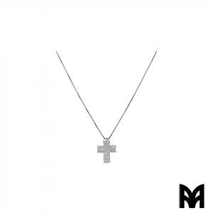 BRILLIANTS GOLD CROSS PENDANT NECKLACE