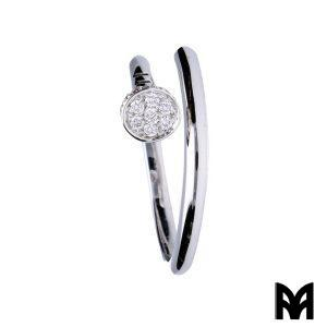 WHITE GOLD DIAMONDS NAIL RING