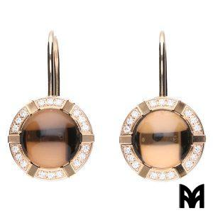CHAUMET EARRINGS CLASS-ONE SMOKY QUARTZ
