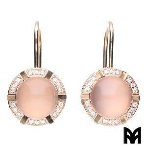 CHAUMET EARRINGS CLASS-ONE PINK QUARTZ