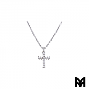BRILLIANTS CROSS PENDANT NECKLACE