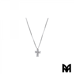 BRILLIANTS CT 0,22 GOLD CROSS PENDANT