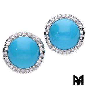 TURQUOISE BUTTONS EARRINGS