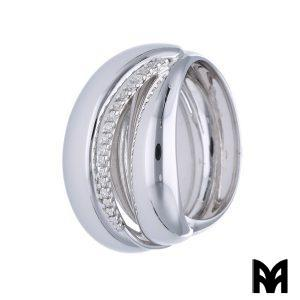 WHITE GOLD DIAMONDS BANDS RING