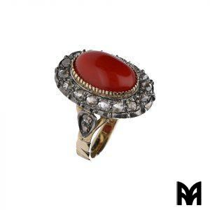 CORAL RING ROSE DIAMOND