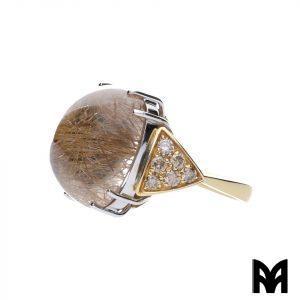 BROWN DIAMONDS QUARTZ RING
