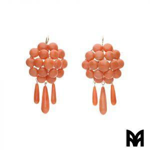 EARLY 20TH CENTURY CORAL EARRINGS