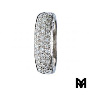 WHITE GOLD RING WITH BRILLIANT BANDS