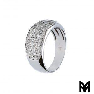 WIDE BAND GOLD DIAMONDS RING