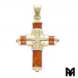 GOLD AMBER CROSS