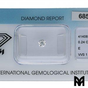 DIAMOND E VVS1 0,24