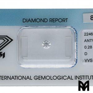 DIAMOND D VVS1 0,28