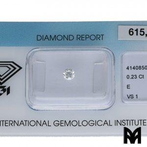 DIAMOND E VS1 0,23 ex
